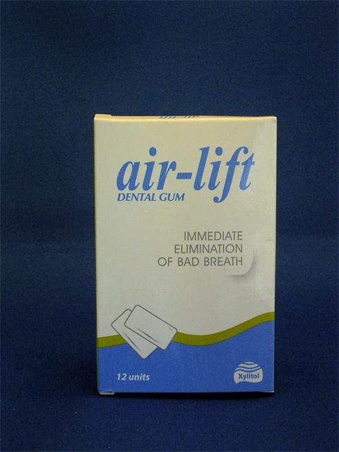 Air-Lift Detal Gum contains a bad breath inhibitor that elimates VSC (Volatile sulfur compounds) responsible for bad odour