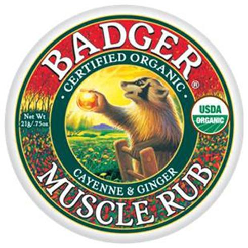 Help to sooth those sore muscles with this badger