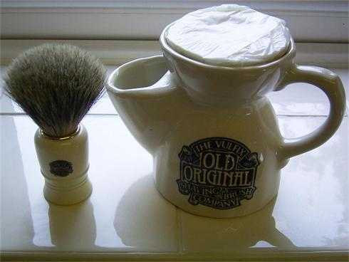 Vulfix Old Original Soap, Mug & Badger Brush