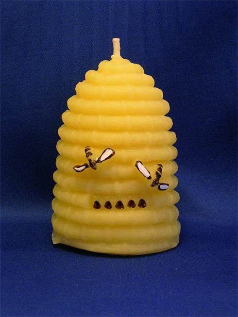 Beautiful Beeswax Beehive Candle