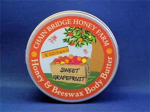 From hands to feet, toes, shoulders and knees. Along with our own honey and beeswax, this creamy body butter contains coconut, shea and cocoa butters, besides aloe vera to sooth parched skin. Lovely when used after bathing.