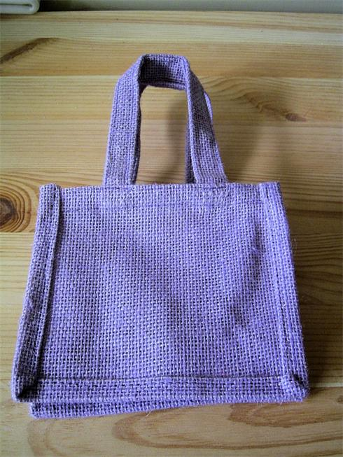 Eco Friendly Lilac Jute Gift Bag