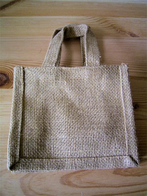 Eco Friendly Jute Bags with Jute handles, and there are nine different colours to choose from. This one is Natural.