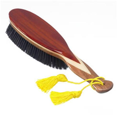 An incredibly smart, large, hand finished clothes brush, made with 3 veneered woods