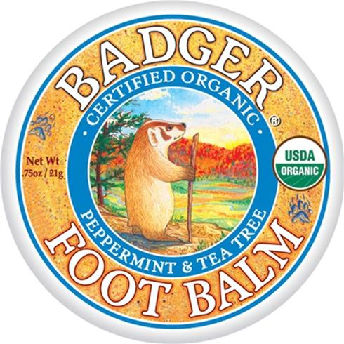 Badger Foot Balm for tired feet