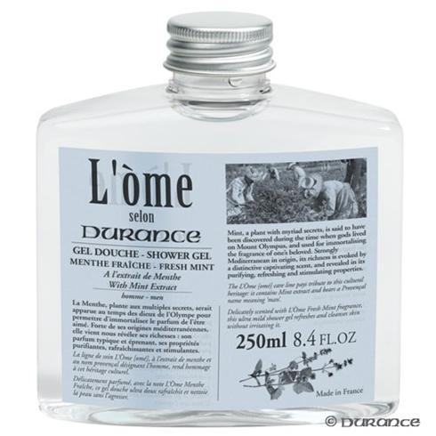 Shower Gel Invigorating Fresh Mint L'ome From Durance Its Solid Square Form Is Unmistakably Masculine