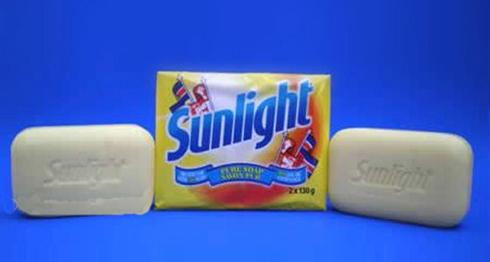 'Sunlight Soap'With its creamy lather it leaves your hands smelling so wonderfully fresh.