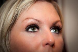 Tara with her Nouveau eye lash extensions provided by Cathy.
