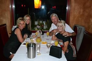 The Boss out with Faye, Helen & Debbie, Tarana's, Turners Hill, September 2013.