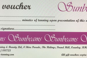 Gift vouchers are available in the salon for all your tanning needs;