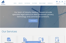 Pritchett's Law - Solicitors firm website design by Toolkit Websites, professional web designers