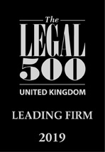 Legal 500 2019 Leading Firm