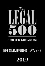 Legal 500 2019 Recommended Lawyer