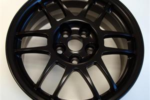 Matt Black powder coated wheel, gloss and satin also available
