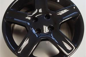 Metallic Grey powder coated wheel