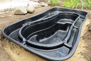 Pre-formed pond liner