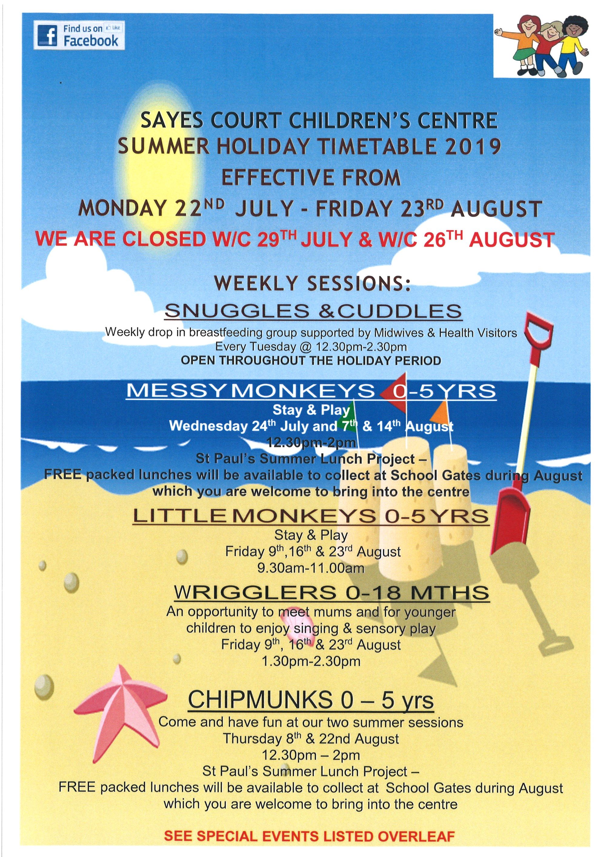 Summer Timetable 2019