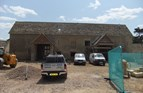Stone tiled roof on new barn conversion