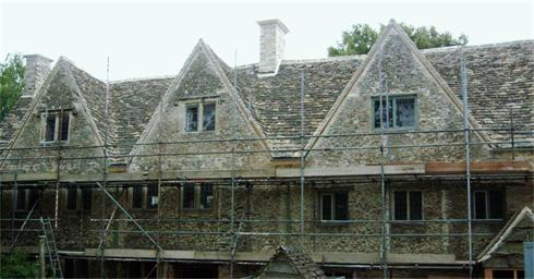 Re-Roofed in Stone tile with swept valleys, on the Highgrove Estate, Tetbury, for The Prince Of Wales