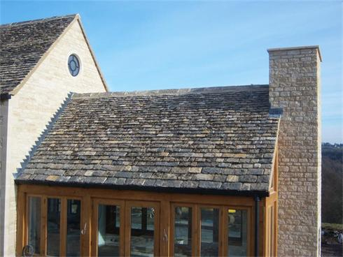 Sun Room roofed in Cotswold Stone Tiles