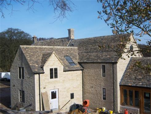 A Converted Cottage and Extensions, roof in Cotswold Stone Tiles