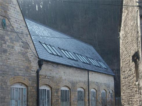New Spanish Slate Roof, Conservation Roof lights & Roll Top Clay Ridge