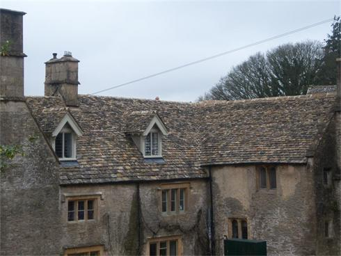Completion of re-roofing to a Manor House