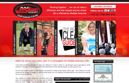 Kaz Aston - Charity website design by Toolkit Websites, professional web designers