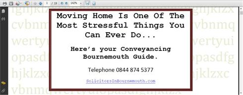 Conveyancing guide from Solicitors In Bournemouth