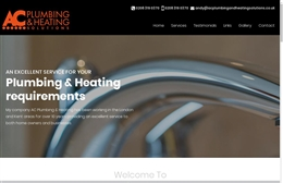AC Plumbing and heating - Flooring company website design by Toolkit Websites, professional web designers