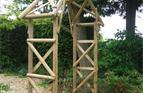 Bespoke garden arch.