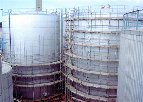 <b>Contract Value:</b> Total Value £ 320,000.00  <b>Details:</b> This project involved the Insulation and cladding of 4 No. 2300m3 Heavy Fuel Oil storage Tanks. We insulated the Tank shells using medium density mineral wool slab finished with profiled sheeting secured with aluminium bands and expansion sets. The roof was insulated using Heavy density mineral wool slab (to withstand foot traffic) finished with a cone, prefabricated in our workshop in the UK. This project also required the procurement and shipping of all materials from the mainland. We have secured the contract to insulate