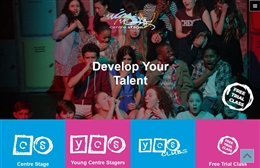 Centre Stage UK - Performing Arts stage school web design by Toolkit Websites, Southampton