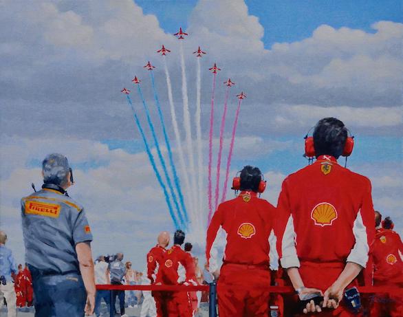 Come on you redsRed Arrows, Ferrari F!, Silverstone, British Grand Prix.