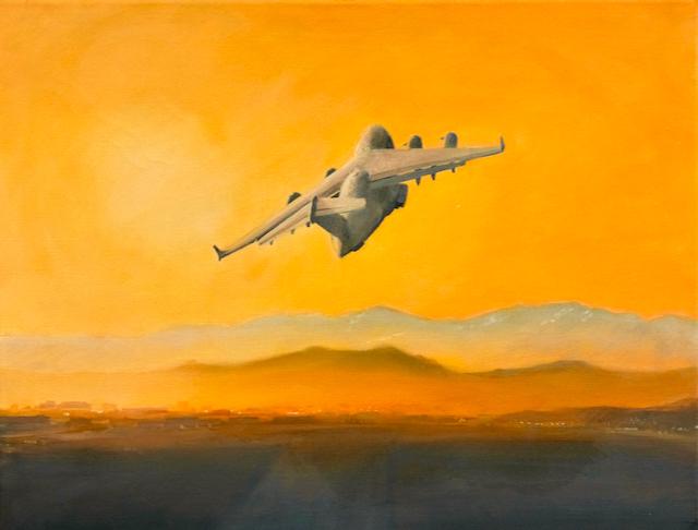 Good Morning KabulRAF C17 take off.