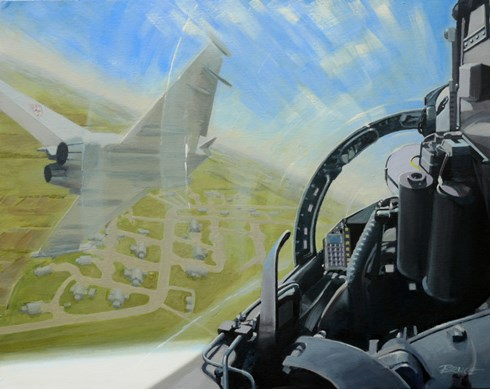 Through the Mach Loop.  Typhoons over RAF Coningsby