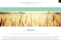 Stacey Millichamp, psychotherapist in north london website design case study