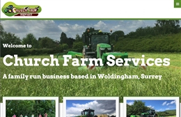 Church Farm Services - Farm, Livery and Haylage website design by Toolkit Websites, professional web designers