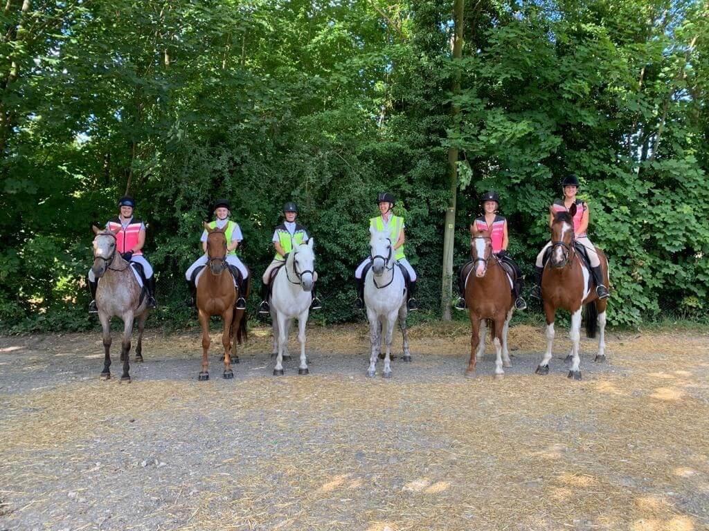Six Riders on Horses