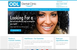 ODL Dental Clinic - Dentist website design by Toolkit Websites, Southampton