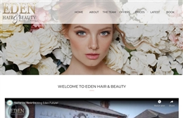 Eden - Hair & Beauty website design by Toolkit Websites, Southampton