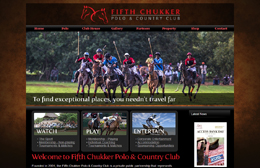 Fifth Chucker - Polo Club website design by Toolkit Websites, professional web designers