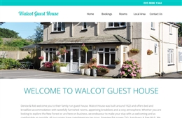 Walcot Guest House - bed and breakfast website design by Toolkit Websites, Southampton