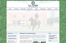 La Tarde Polo Club - Equestrian website design by Toolkit Websites, professional web designers