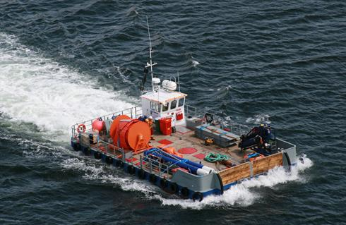 15m x 8.7m triple hull, road transportable Meercat