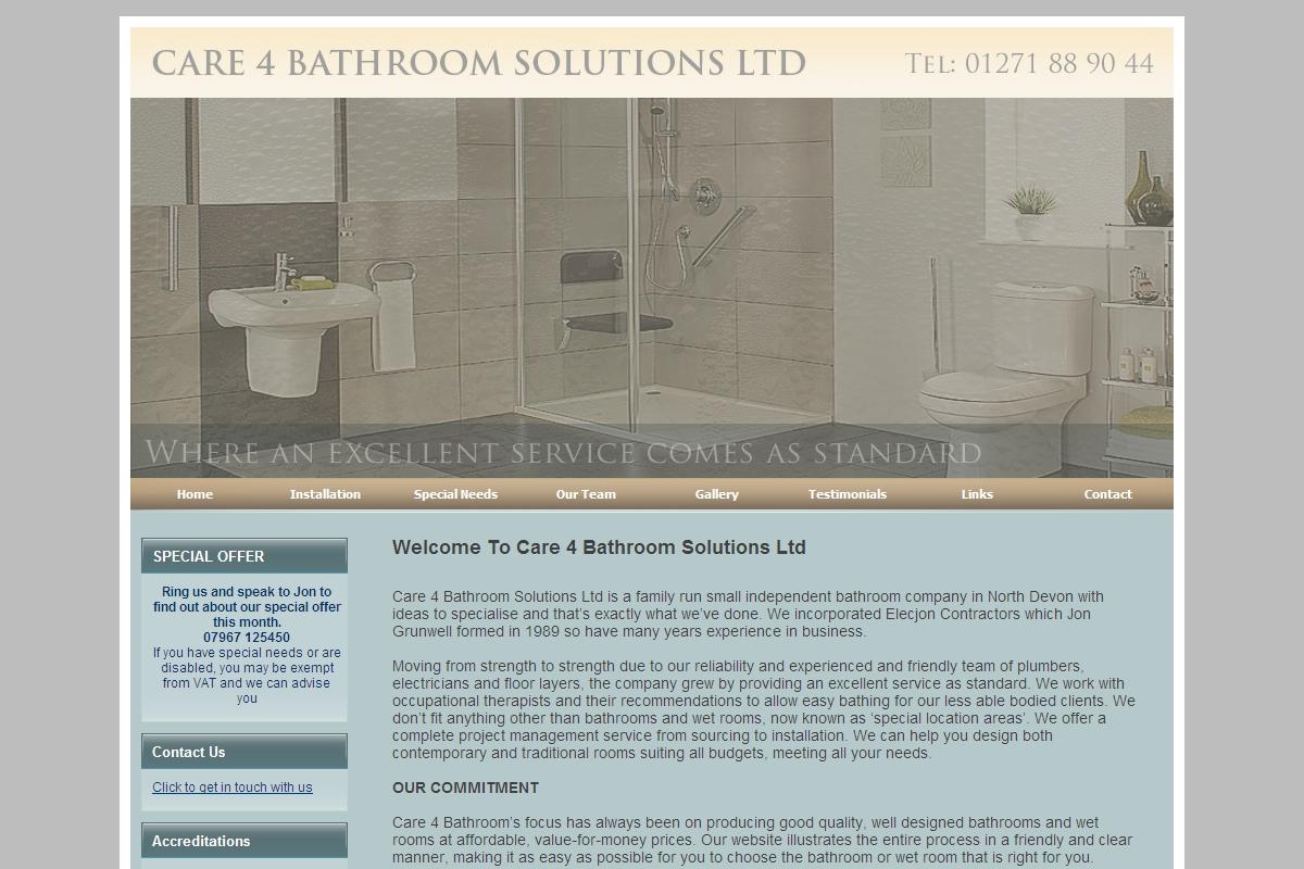 Testimonials : Care 4 Bathroom Solutions Ltd.