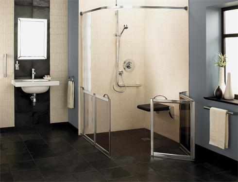 Special needs wet room with a contemporary touch