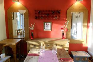 new colour-scheme in the restaurant