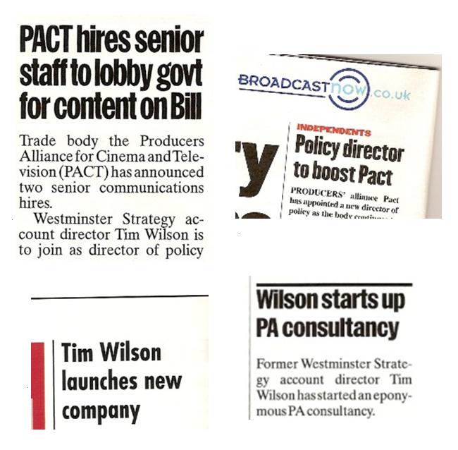 public affairs consultant in uk newspapers