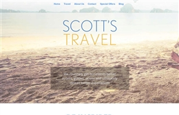 Scotts Travel - Travel web design by Toolkit Websites, Southampton